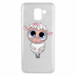 Чехол для Samsung J6 Cute lamb with big eyes