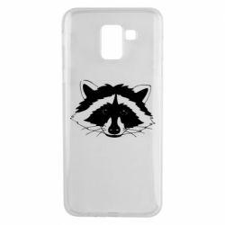 Чохол для Samsung J6 Cute raccoon face