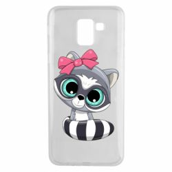 Чехол для Samsung J6 Cute raccoon