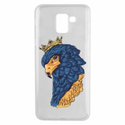 Чехол для Samsung J6 Eagle with a crown on its head