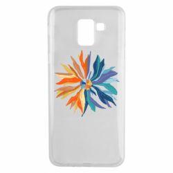 Чохол для Samsung J6 Flower coat of arms of Ukraine