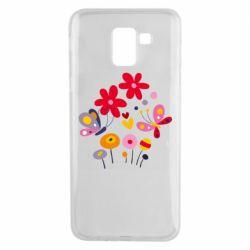 Чехол для Samsung J6 Flowers and Butterflies