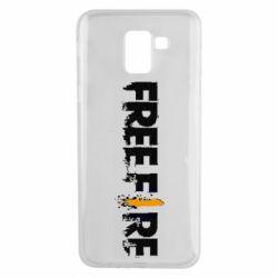 Чехол для Samsung J6 Free Fire spray