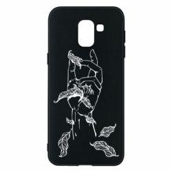 Чохол для Samsung J6 Hand with leafs