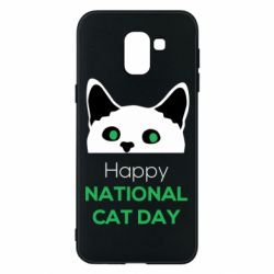 Чехол для Samsung J6 Happy National Cat Day