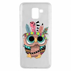 Чохол для Samsung J6 Little owl with feathers