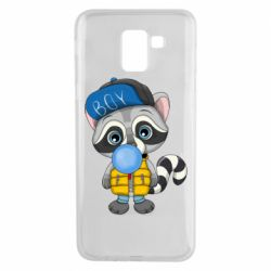 Чехол для Samsung J6 Little raccoon