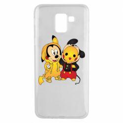 Чехол для Samsung J6 Mickey and Pikachu