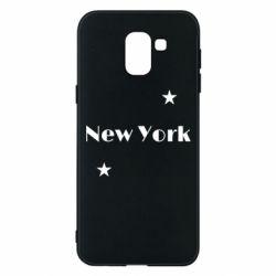 Чехол для Samsung J6 New York and stars