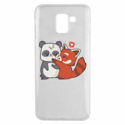 Чохол для Samsung J6 Panda and fire panda