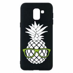 Чехол для Samsung J6 Pineapple with glasses
