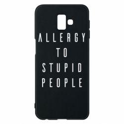 Чохол для Samsung J6 Plus 2018 Allergy To Stupid People