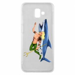 Чехол для Samsung J6 Plus 2018 Aquaman with a shark