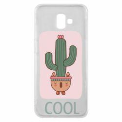 Чехол для Samsung J6 Plus 2018 Cactus art