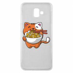 Чохол для Samsung J6 Plus 2018 Cat and Ramen