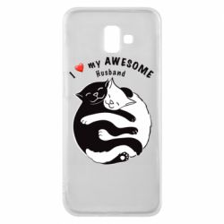 Чехол для Samsung J6 Plus 2018 Cats and love