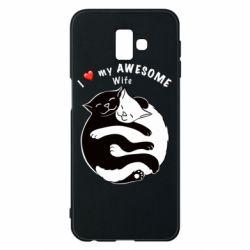 Чехол для Samsung J6 Plus 2018 Cats with a smile