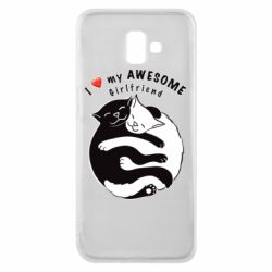 Чехол для Samsung J6 Plus 2018 Cats with red heart