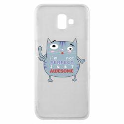 Чехол для Samsung J6 Plus 2018 Cute cat and text