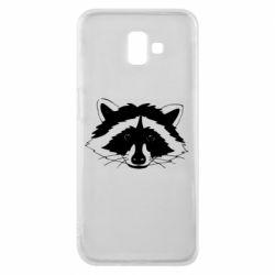 Чохол для Samsung J6 Plus 2018 Cute raccoon face