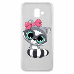 Чехол для Samsung J6 Plus 2018 Cute raccoon