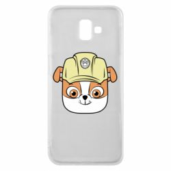 Чохол для Samsung J6 Plus 2018 Dog in helmet