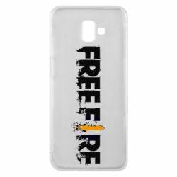 Чехол для Samsung J6 Plus 2018 Free Fire spray