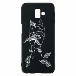 Чохол для Samsung J6 Plus 2018 Hand with leafs