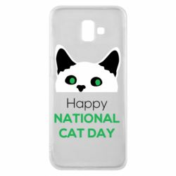 Чехол для Samsung J6 Plus 2018 Happy National Cat Day