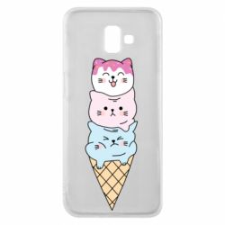 Чехол для Samsung J6 Plus 2018 Ice cream kittens