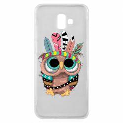 Чохол для Samsung J6 Plus 2018 Little owl with feathers