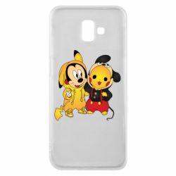 Чехол для Samsung J6 Plus 2018 Mickey and Pikachu