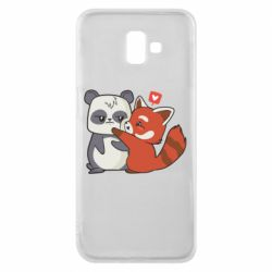 Чохол для Samsung J6 Plus 2018 Panda and fire panda