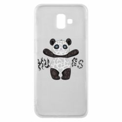 Чехол для Samsung J6 Plus 2018 Panda hugs