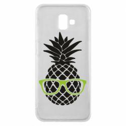 Чехол для Samsung J6 Plus 2018 Pineapple with glasses