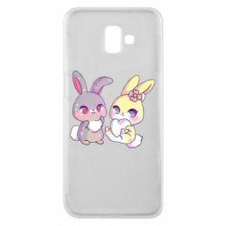 Чохол для Samsung J6 Plus 2018 Rabbits In Love