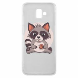 Чохол для Samsung J6 Plus 2018 Raccoon with cookies