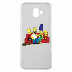 Чехол для Samsung J6 Plus 2018 Simpsons At Home