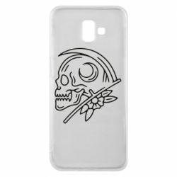 Чохол для Samsung J6 Plus 2018 Skull with scythe
