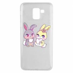 Чохол для Samsung J6 Rabbits In Love