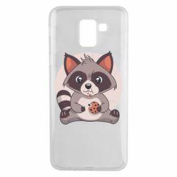 Чохол для Samsung J6 Raccoon with cookies
