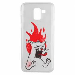 Чохол для Samsung J6 The cat is mad