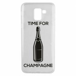 Чохол для Samsung J6 Time for champagne