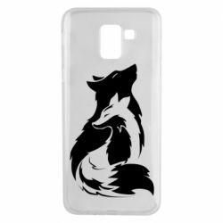 Чехол для Samsung J6 Wolf And Fox