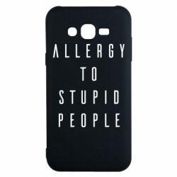 Чохол для Samsung J7 2015 Allergy To Stupid People