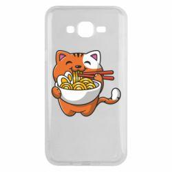 Чохол для Samsung J7 2015 Cat and Ramen