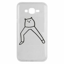 Чохол для Samsung J7 2015 Cat in pants