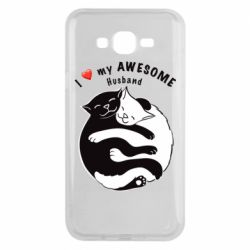 Чехол для Samsung J7 2015 Cats and love