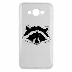 Чохол для Samsung J7 2015 Cute raccoon face