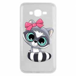 Чехол для Samsung J7 2015 Cute raccoon